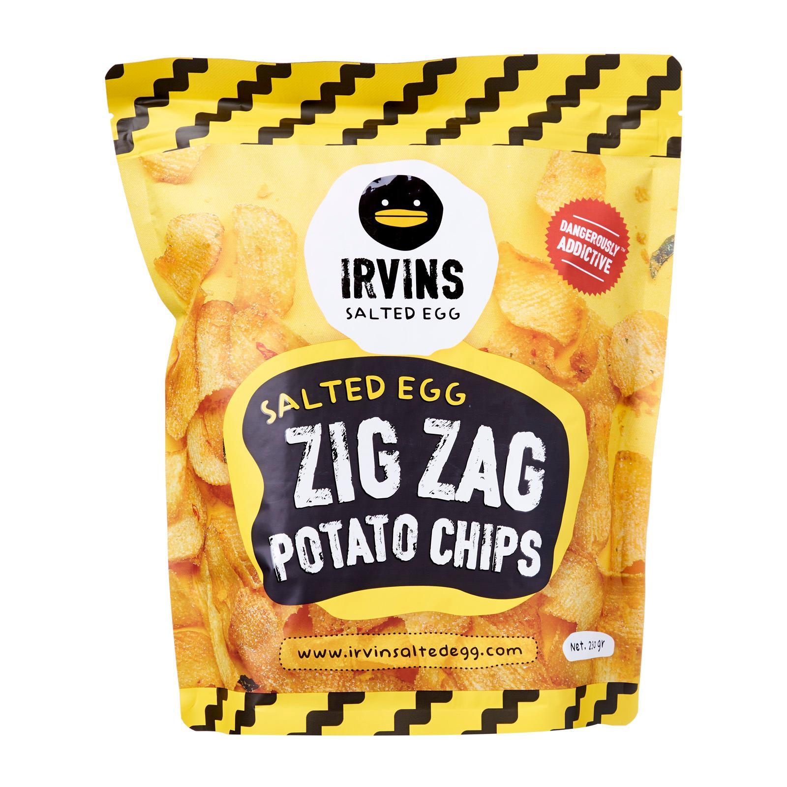 Irvins Salted Egg Salted Egg Zig Zag Potato Chips (230g)