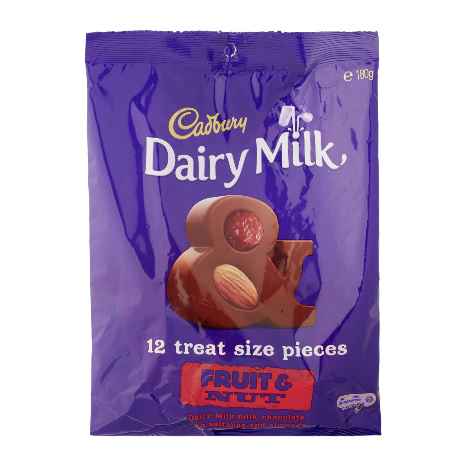 Cadbury Fruit and Nut Chocolate - Multipack