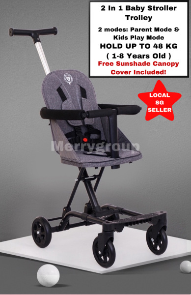 New Arrival Lightweight Compact 2 in 1 Magic Baby Stroller Scooter Walker Big Wheels Solid Sturdy Brake Easy Compact Folding Walking Trolley 1 to 8 Years Old Heavy Duty Oversize Overweight Children Kid Singapore
