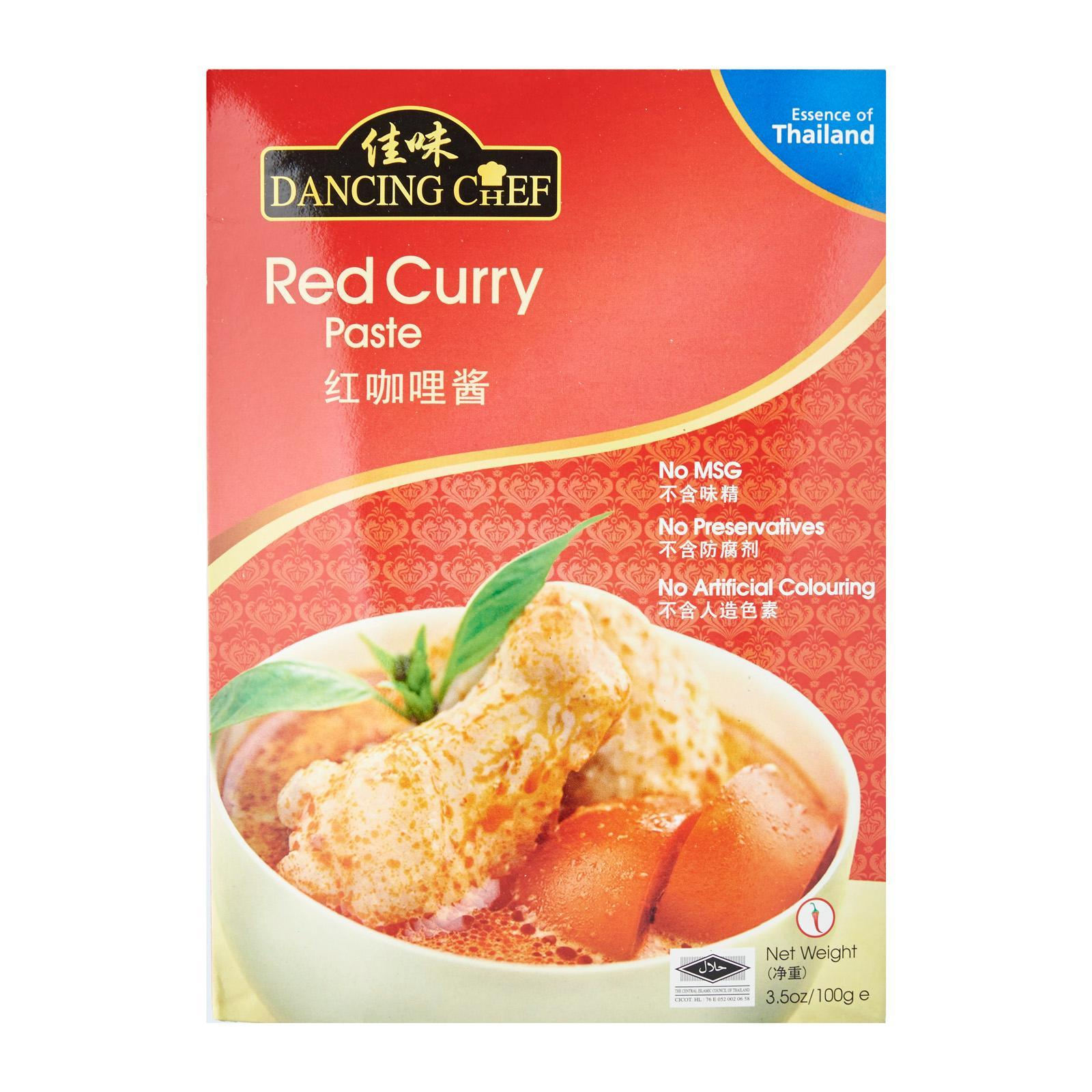 Dancing Chef Red Curry Paste By Redmart.
