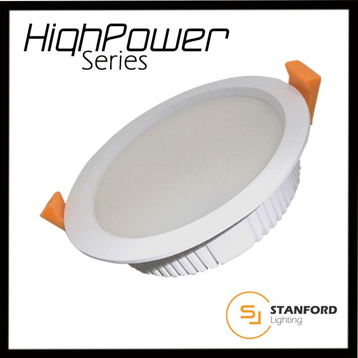 Stanford Powerplus LED Downlight Extra Bright 12W 24W 220-240V 120mm Safety Mark Driver