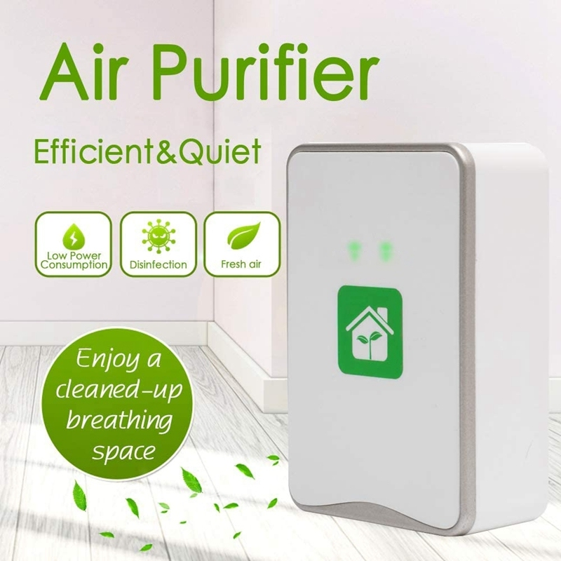 Pluggable Air Purifier Negative Ion Generator Filterless Ionizer Purifier Clean Allergens,Pollutants,Mold,Odors-US Plug