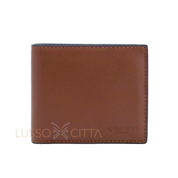 Coach Mens Compact ID Wallet In Sport Calf Leather With Coach Gift Box