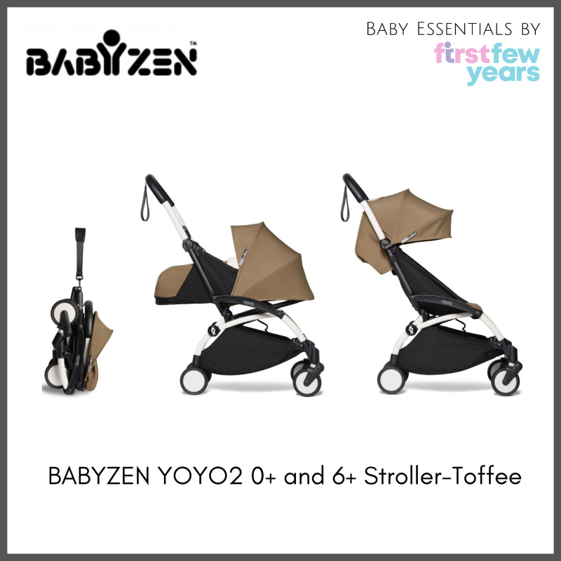 BABYZEN YOYO² 0+ and 6+ Stroller (White Frame with Newborn Nest and 6+ Color Pack) [NEW VERSION] Singapore