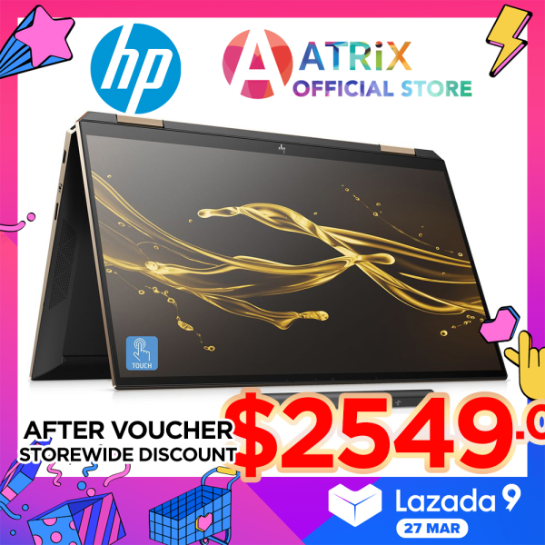 【Same Day Delivery】HP Spectre x360 Convertible 13 Win10 Pro | 13.3 Touch-Sureview Privacy Screen | i7-1065G7 | 16GB RAM | 1TB PCIe SSD | Poseidon Blue Night Fall Black  | HP Spectre x360 Convertible 13-aw0249TU