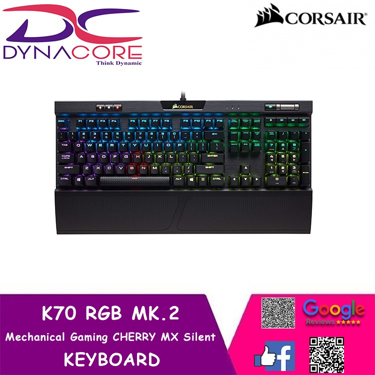 DYNACORE - CORSAIR K70 RGB MK.2 Mechanical Gaming Keyboard — CHERRY® MX Silent Singapore