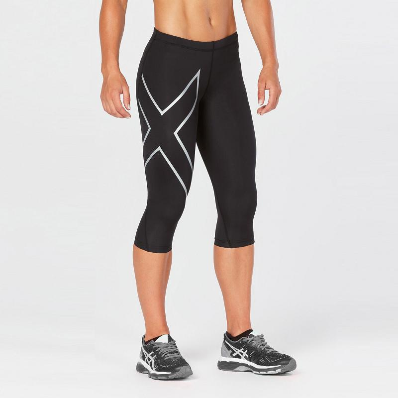 22364ad5f017df 2XU Women s 3 4 Compression Tights (Black) WA1943B