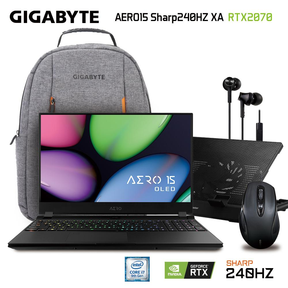 GIGABYTE AERO 15 XA Sharp 240Hz (i7-9750H/16GB SAMSUNG DDR4 2666 (8GB*2)/GeForce RTX 2070 GDDR6 8GB Max-Q/512GB INTEL 760P PCIE SSD/15.6 Thin Bezel SHARP FHD 240Hz IGZO/WINDOWS 10 PROFESSIONAL) [Ships 2-3 days]