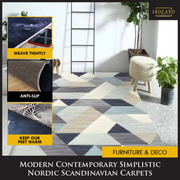 (SINGAPORE SELLER)Modern Anti Slip Nordic living room carpet(140by200CM/160by230CM)