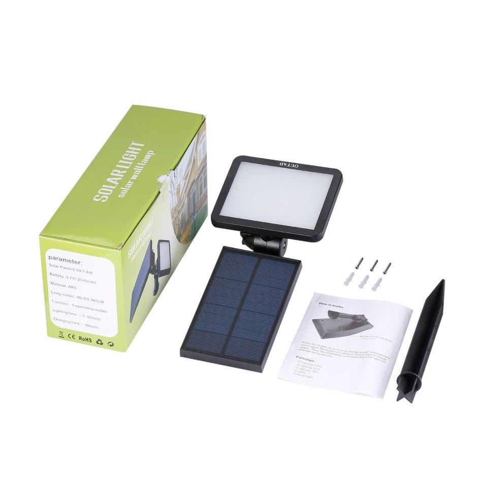 ANEXT OUTAD Energy-saving Adjustable Angle Waterproof 48 Pcs LED Solar Light