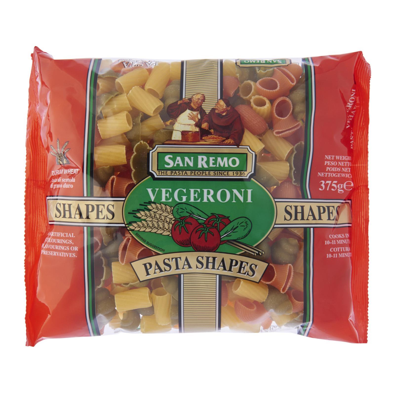 San Remo Pasta Vegeroni Shapes No. 120