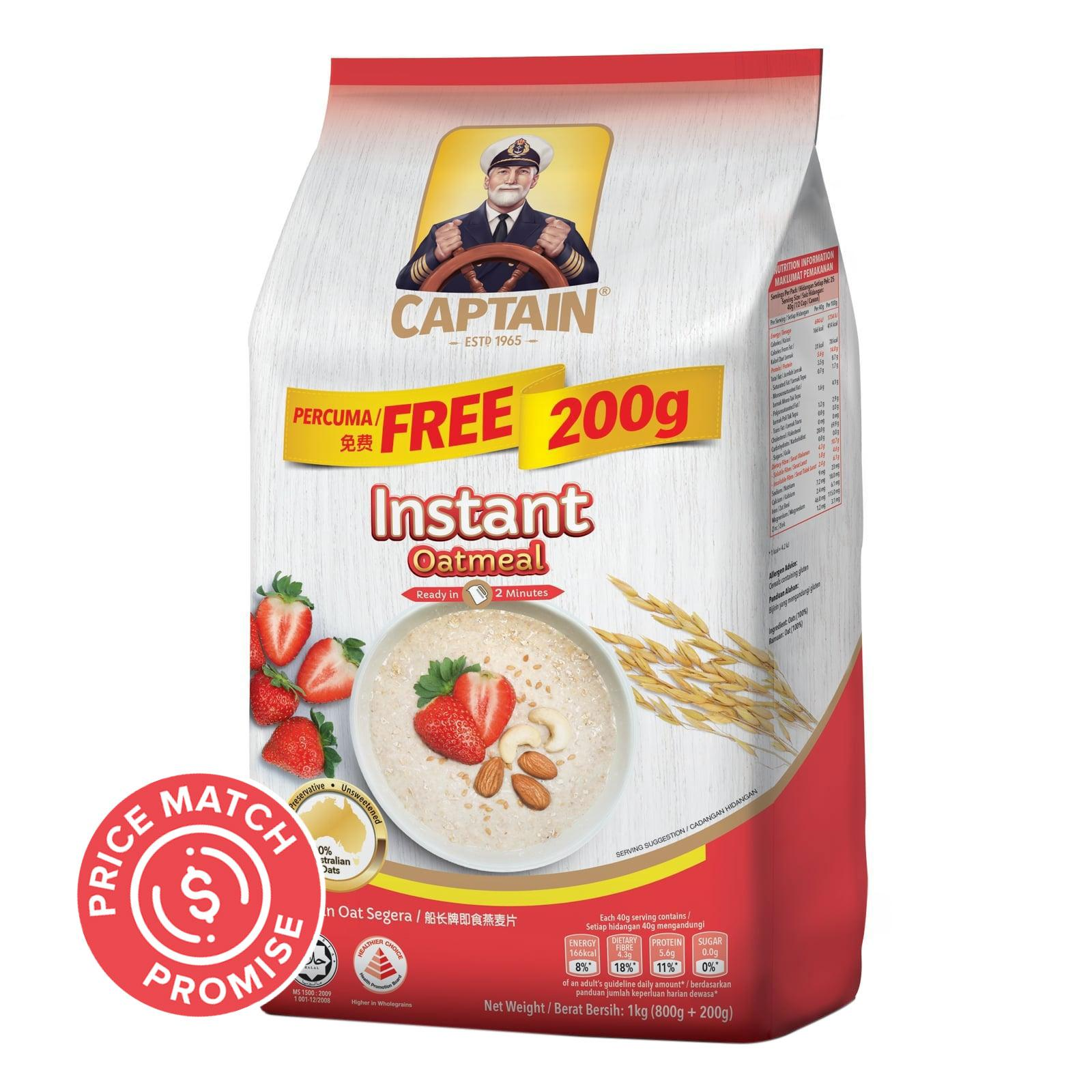 Captain Oats Instant Oatmeal Refill Pack
