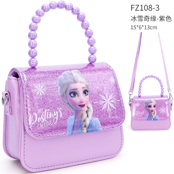 Ice And Snow Frozen Childrens Bag Girls Fashion Shoulder Bag AISHA Princess Handbag Purse Baby Small Shoulder Bag