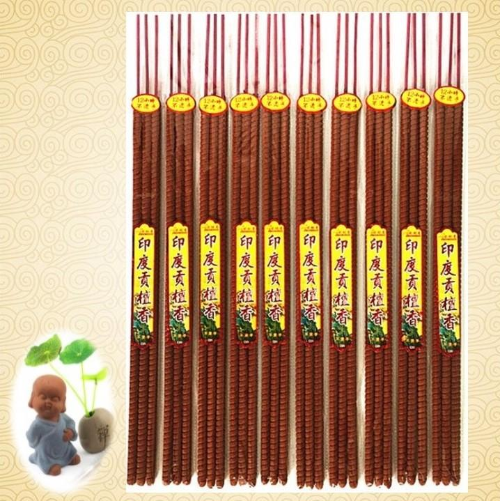 10 packets x 3 sticks of Sandalwood (印度老山贡檀香) x 60cm long Coin Ingot Spiral (铜钱元宝螺纹香) Joss Sticks - about 12 hours long
