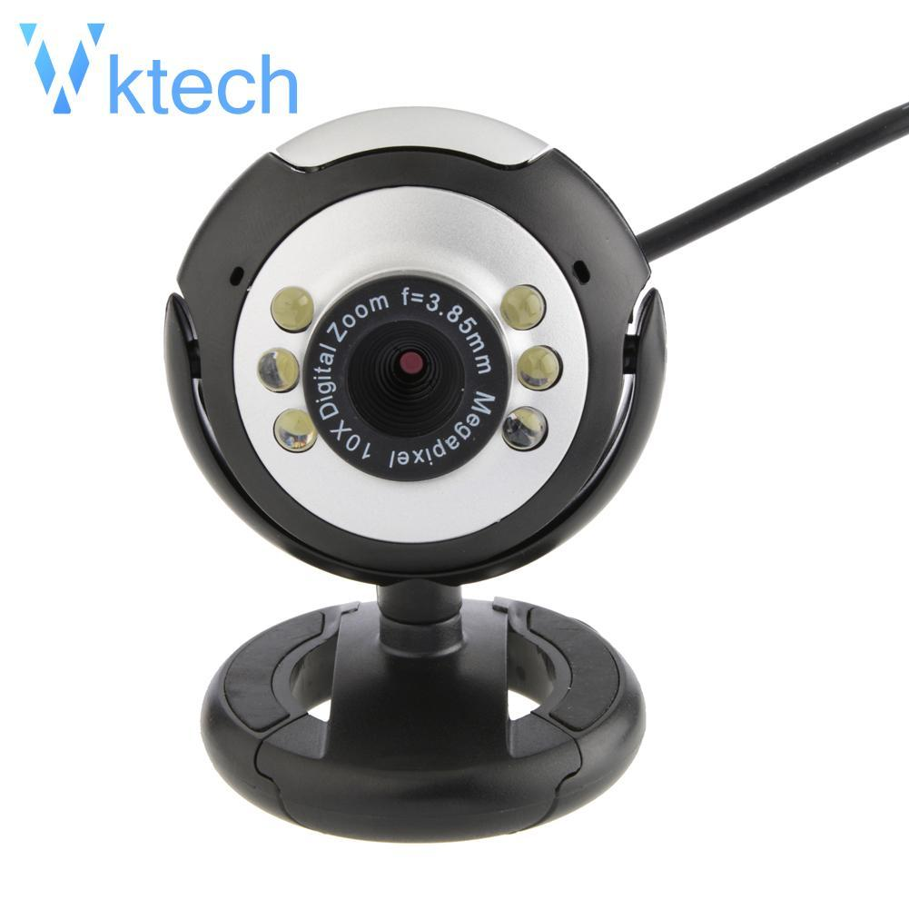 [Vktech] HD 12.MP 6 LED USB Webcam Camera with Mic Night Vision for Desktop PC