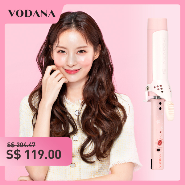Buy VODANA Hair Curler 36mm  negative ion Ceramic Heating Plate Not Hurt Hair Thermostat  Electric Curling Hairdressing Equipment With 360° Rotating Power Cord (Cherry Blossom powder) Singapore
