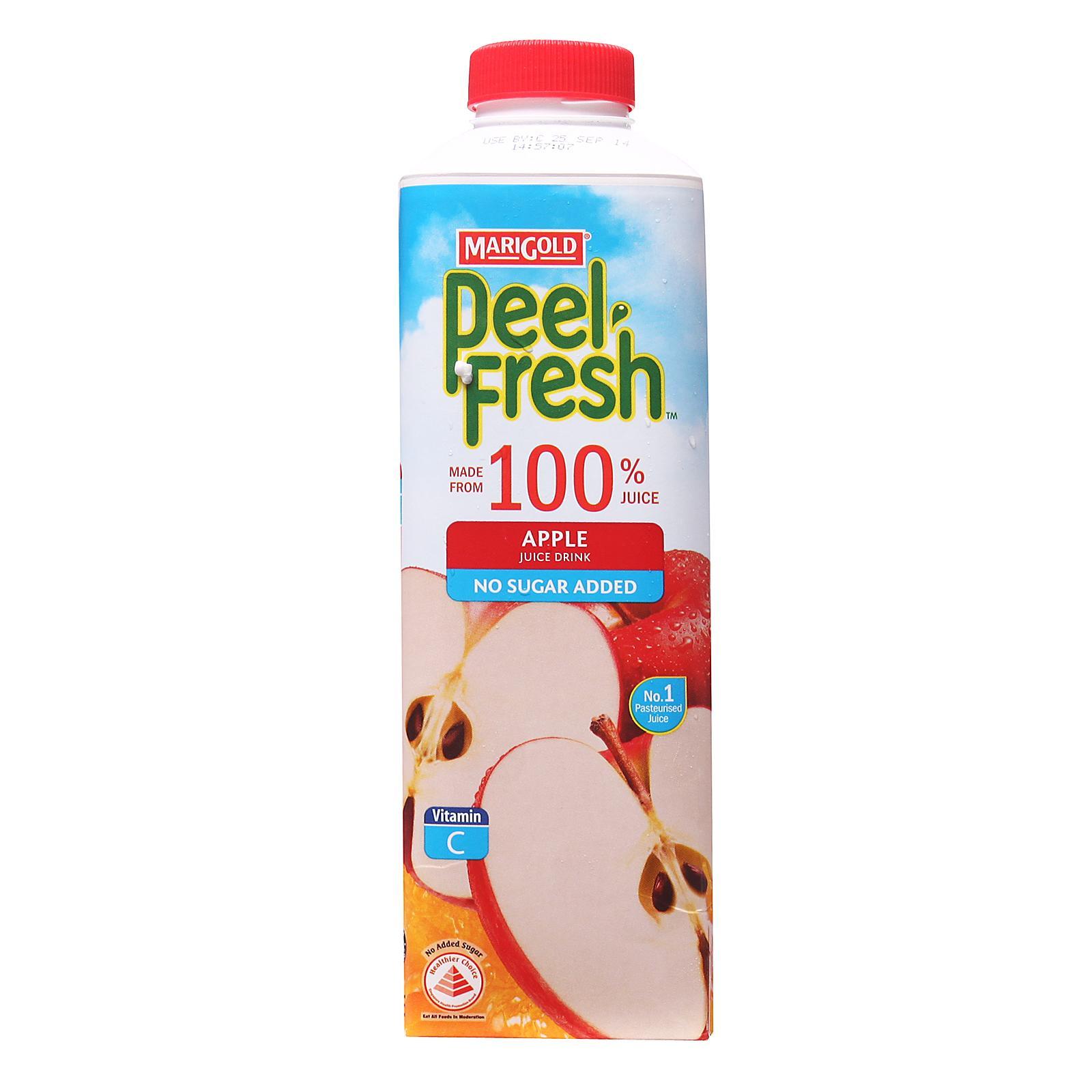 MARIGOLD Peel Fresh No Sugar Added Juice Drink - Apple