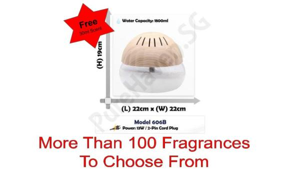 [BNIB] FOC 30ml Scent Liquid! Model 606B Premium Water Air Purifier 1800ml. Singapore