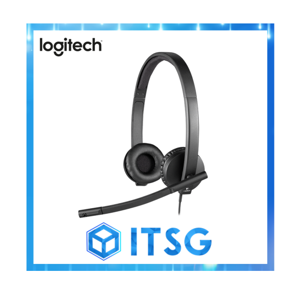 Logitech H570e USB Stereo Headset With Noise Cancelling Microphone (Local 2 Yr Warranty) Singapore