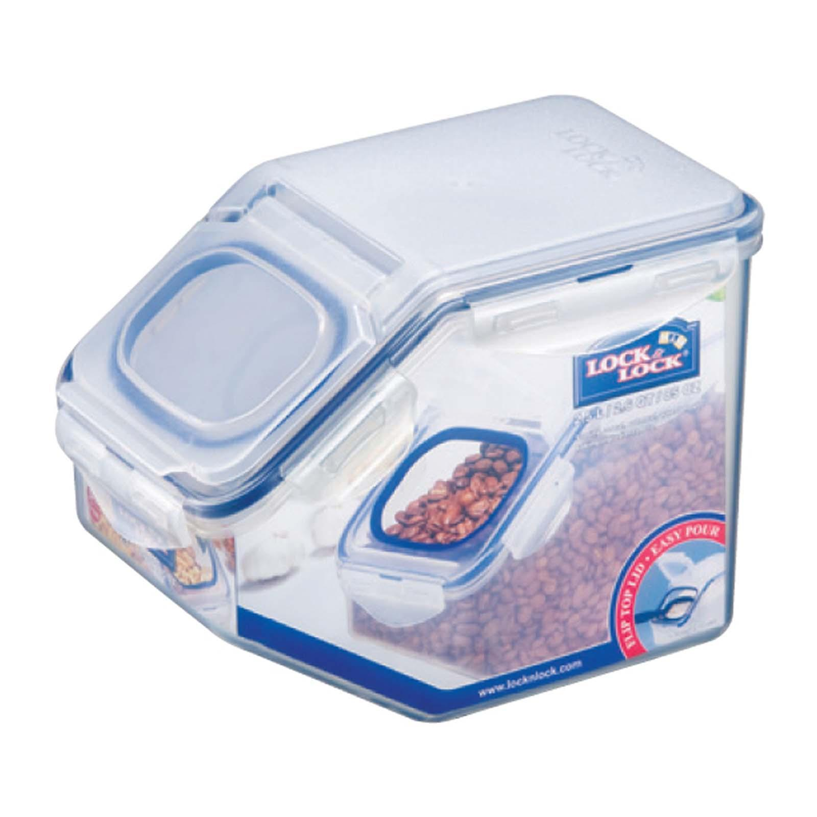 Lock and Lock Slim Dry Food Container With Silica Gel and Separator 3.4L