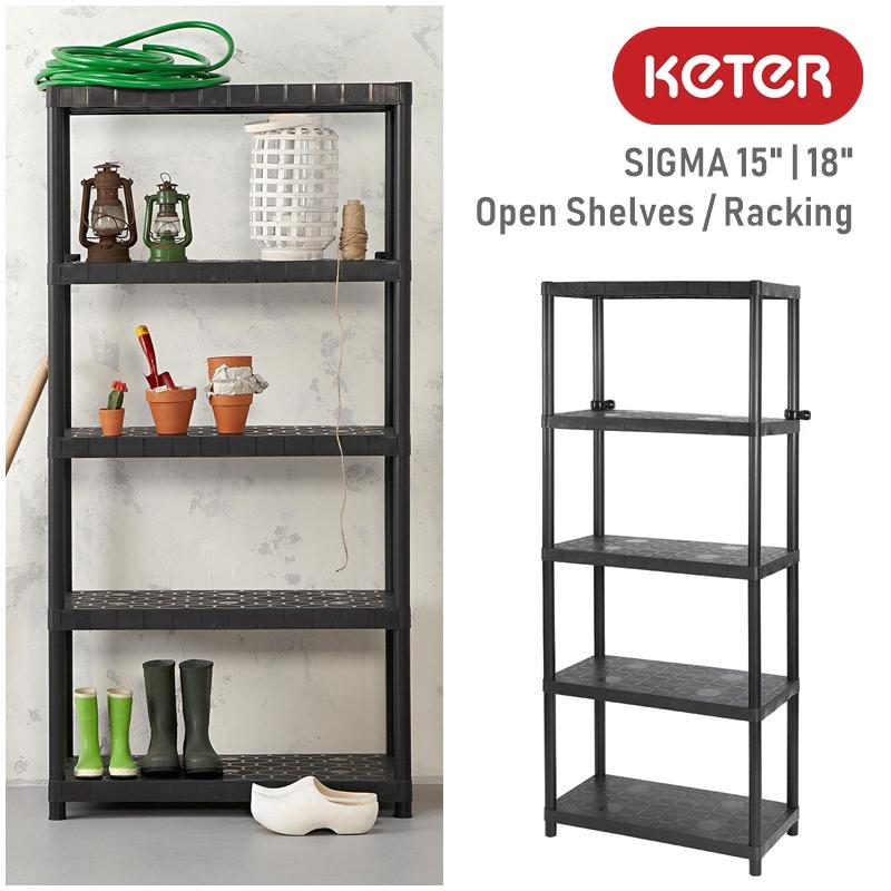 Keter Sigma Plastic Open Shelf