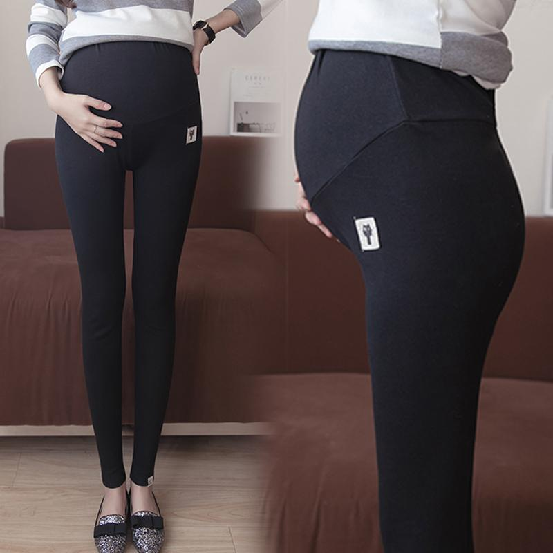 904cd07d51c89 2017 Autumn Clothing Maternity Clothes Abdominal Support High-waisted  Leggings Catmi Applique Abdominal Support Pure