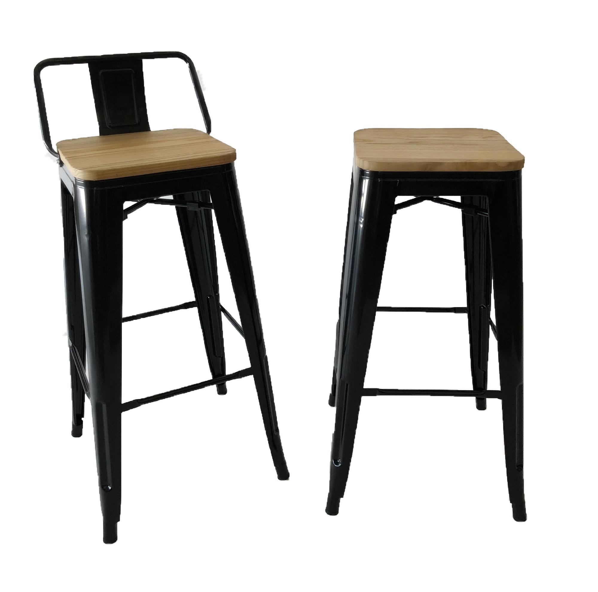 High Bar Stool with Metal Leg / Industrial Look