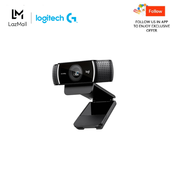 Logitech C922 Full HD Pro Stream Webcam with Background Replacement Feature and Tripod for Video (Work From Home, Home Based Learning, Video Call)
