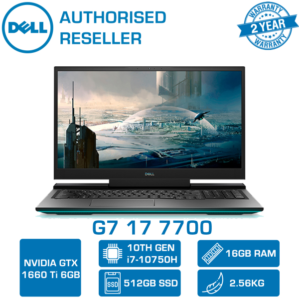 【DELIVERY IN 24 HOURS】 DELL G7 17 7700 GAMING LAPTOP | 17.3inch | i7-10750H | 16GB RAM | 512GB SSD | GTX1660Ti 6GDR6 | WIN 10 HOME | 7700-107156GL