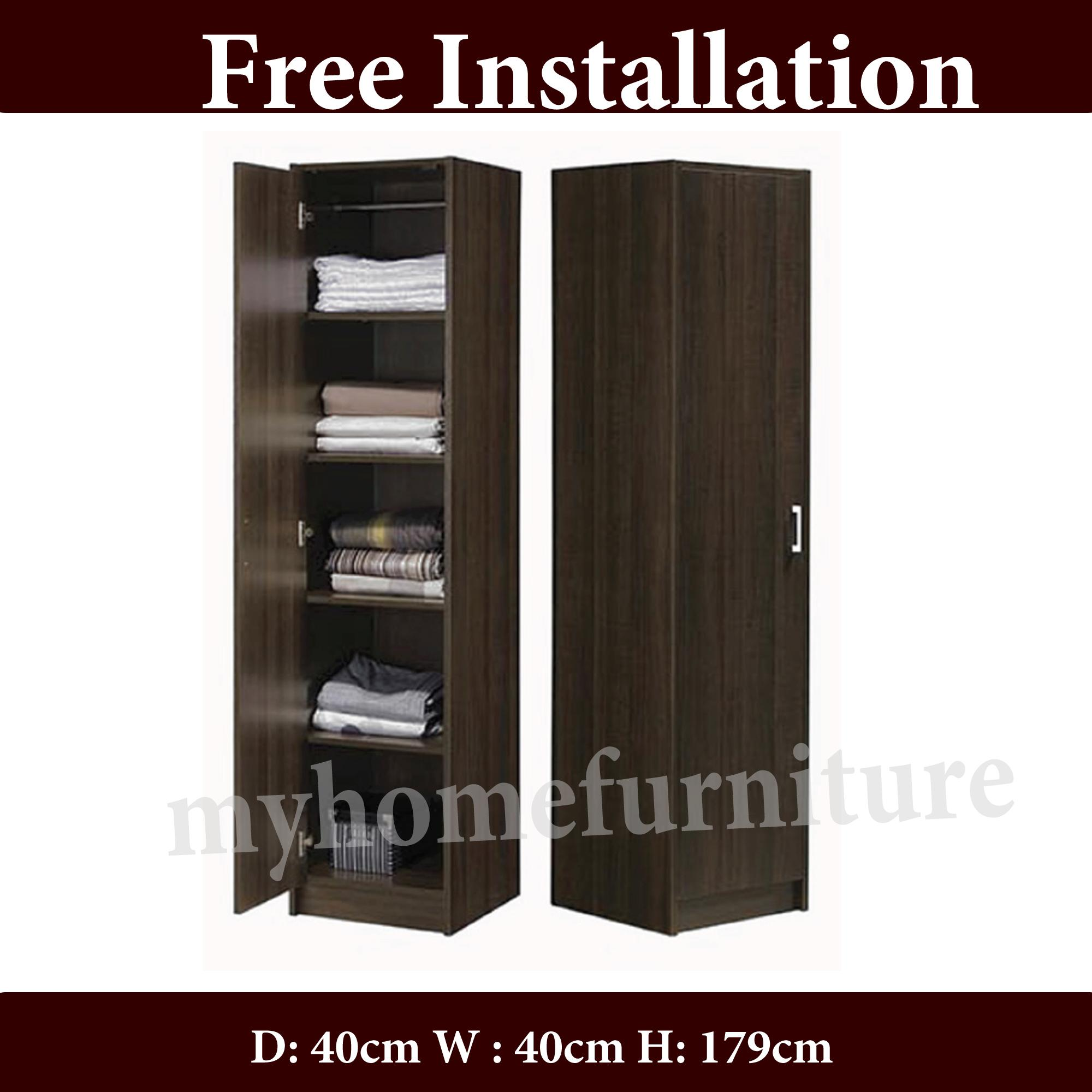 Farah Single Door With 5 Shelfs Wardrobe (Free Delivery and Installation)