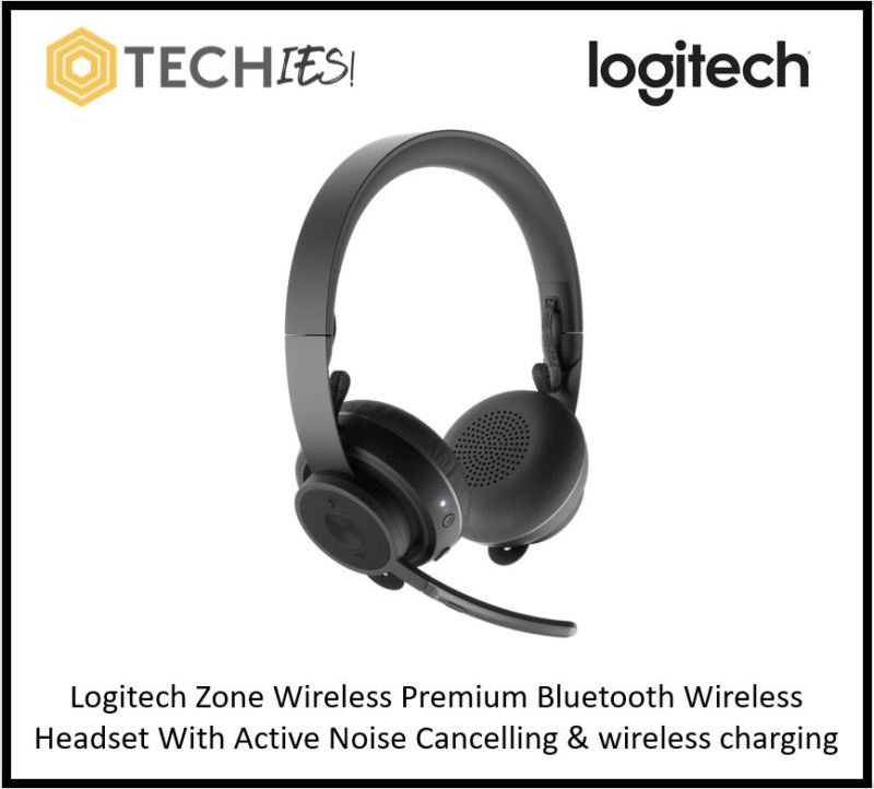 Logitech Zone Wireless Premium Bluetooth Wireless Headset With Active Noise Cancelling & wireless charging Singapore