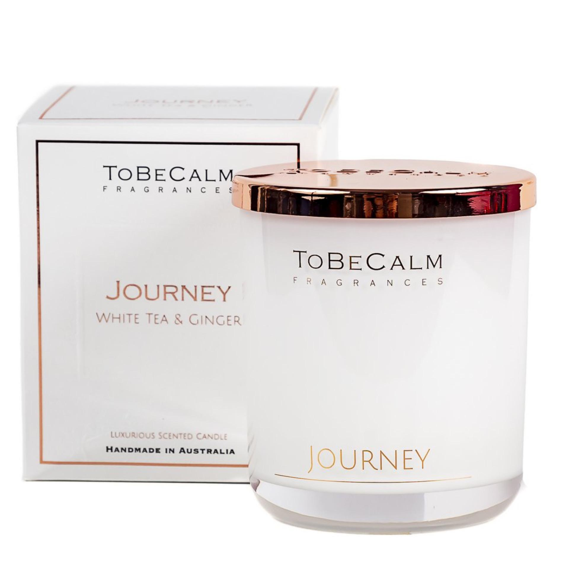 To Be Calm Journey - White Tea & Ginger -  Luxury Large Soy Candle