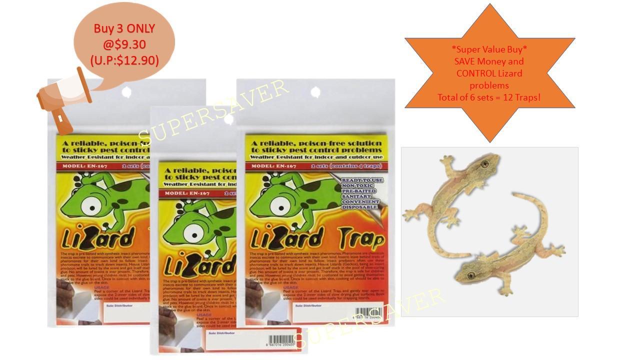 Lizard Traps - Super Value Buy for 3 @ $9.30 (Total 6 sets = 12 Traps)