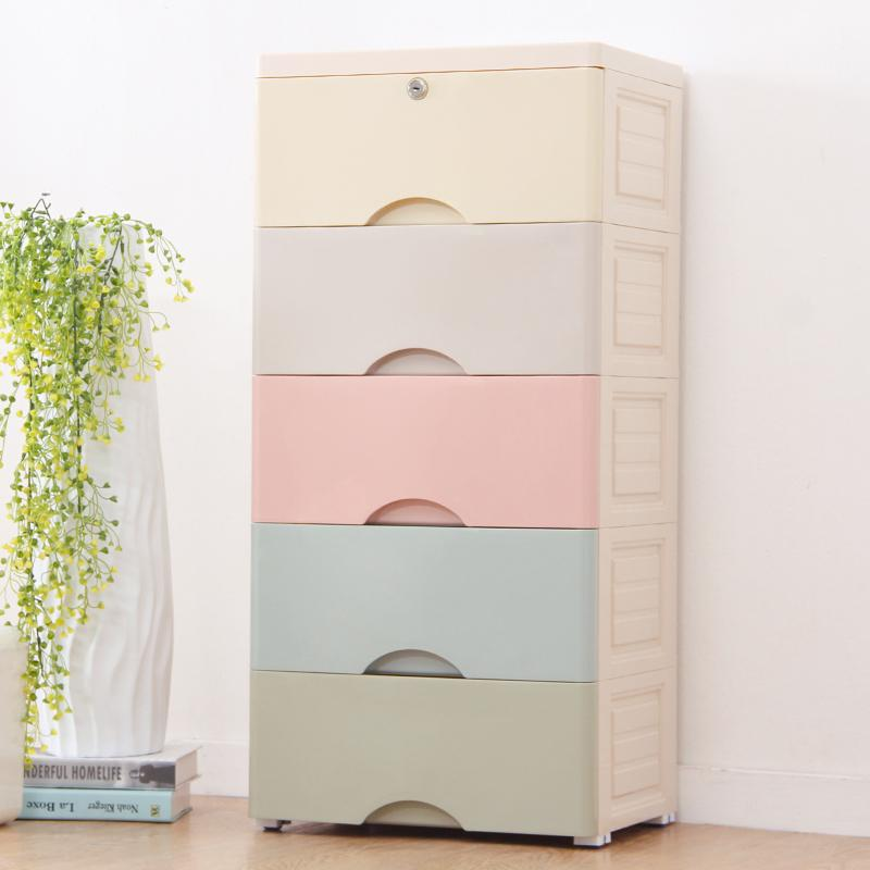 Upgraded 5 tiers organizers drawers with lock