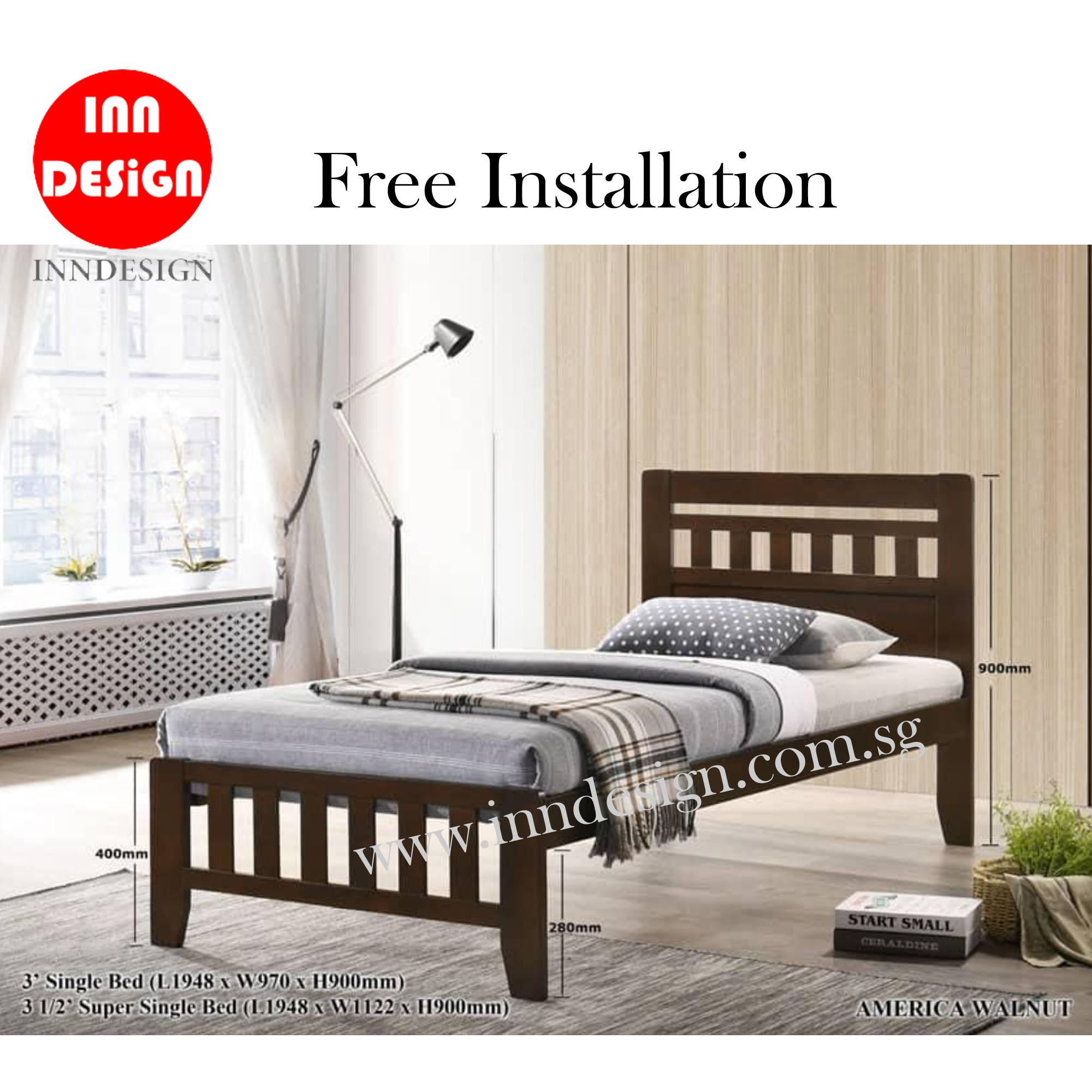 Haangee Single/Super Single Plywood Bedframe