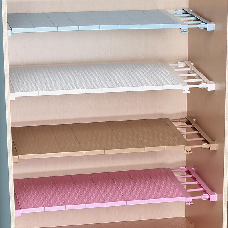 Adjustable Wardrobe Organizer Storage Shelves Clothes Shoes Rack Space Saving Closet Decorative Shelf Cabinet Holders