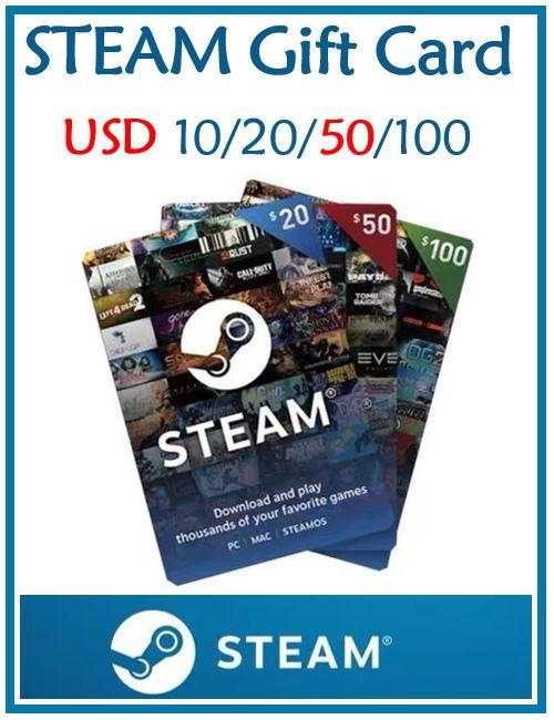 STEAM USD 50 Wallet Gift Card/Top Up/Digital Pin/Code (Can deposit to other countrys account)