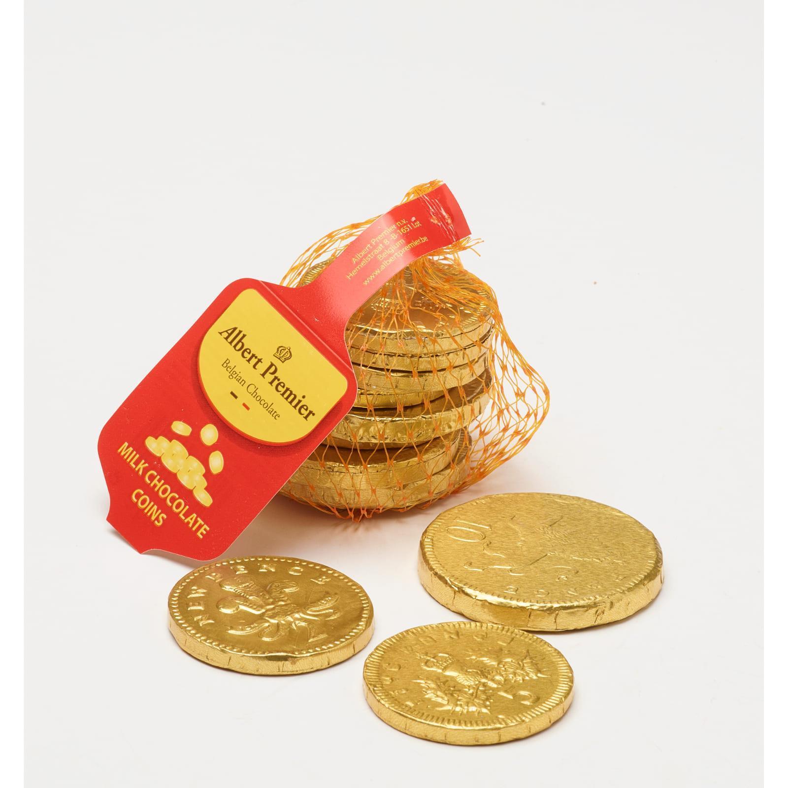 Albert Premier Belgian Milk Chocolate Gold Coins - Christmas Special