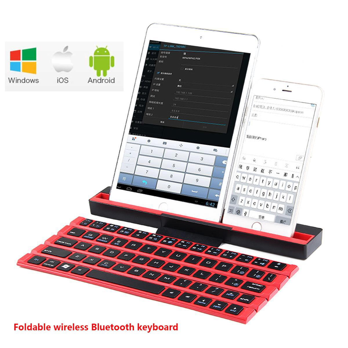 Kobwa Foldable Bluetooth Keyboard,Portable Folding Wireless Keyboard with Stand,Rollable Bluetooth Keyboard Ultra-Slim for IPad, IPhone, Tablets, Android Smartphones, IOS, Notebook, Windows, Mac