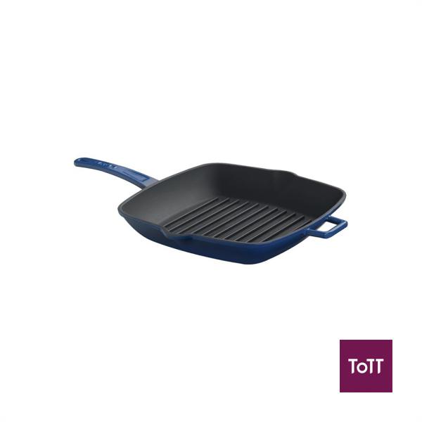 Lava Cast Iron 26x32cm Rect Grill Pan Blue Singapore