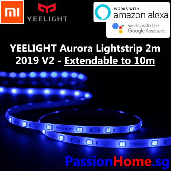 Yeelight Aurora Lightstrip Plus 2019 v2 Starter - 2m Wifi LED Light Strip - Extendable - 2 meter 2 metre Xiaomi Mijia Smart Home Automation - (Works with Google Home Assistant Amazon Alexa Echo IFTTT) - Mi Home App - Philips Hue Alternative - Passion Home
