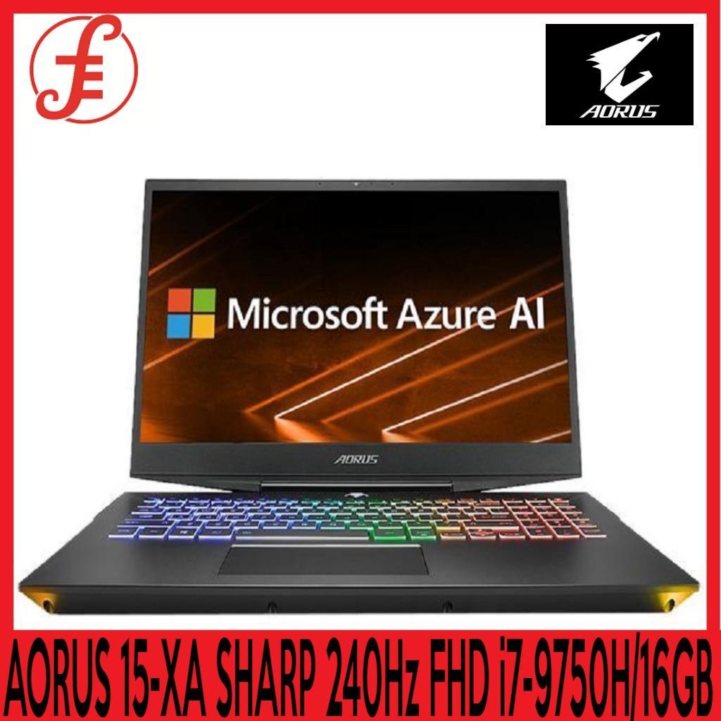 GIGABYTE AORUS 15-XA SHARP 240Hz FHD (i7-9750H/16GB SAMSUNG DDR4 2666 (8GB*2)/GeForce RTX 2070 GDDR6 8GB/512GB INTEL 760P PCIE SSD + 2TB HDD 7,200RPM/15.6 Thin Bezel SHARP 240Hz FHD IPS/WINDOWS 10 HOME