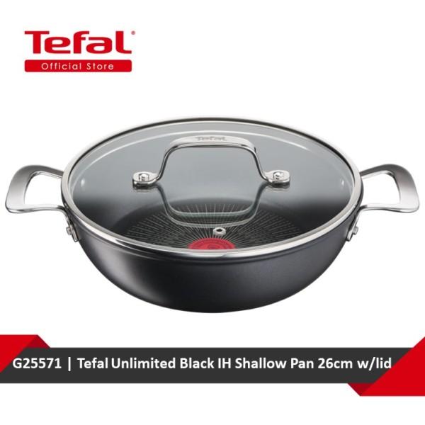 Tefal Unlimited Black IH Shallow Pan 26cm w/lid G25571 Singapore