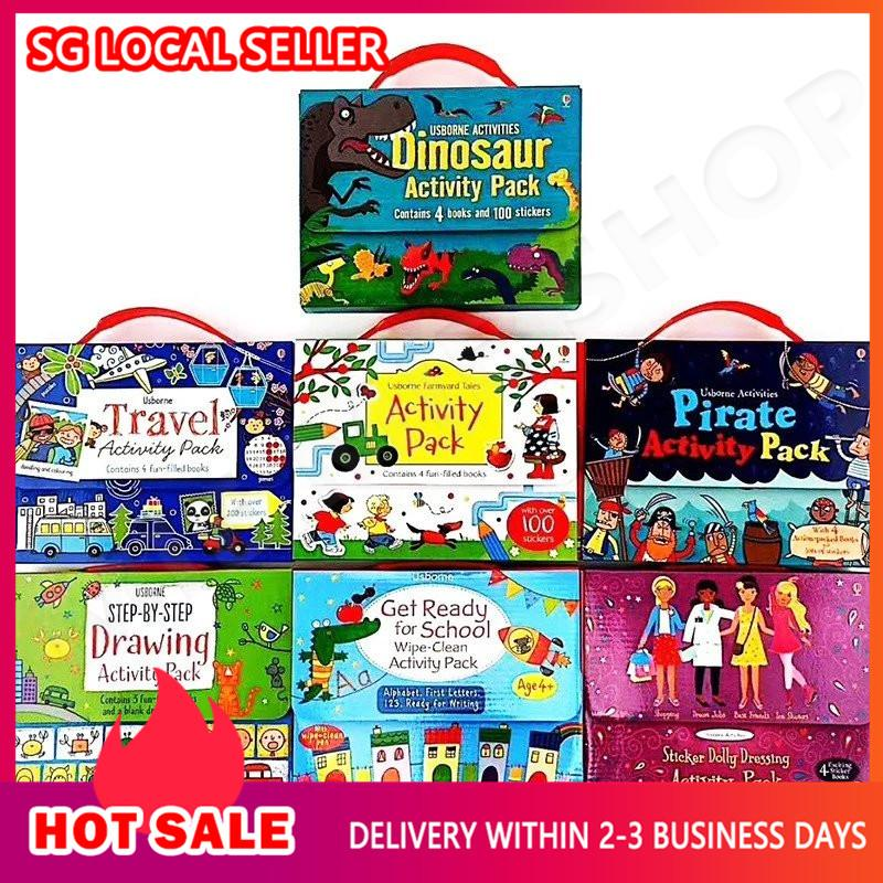 [SG Ready Stock] Usborne Activity Books 7 packs 28 books