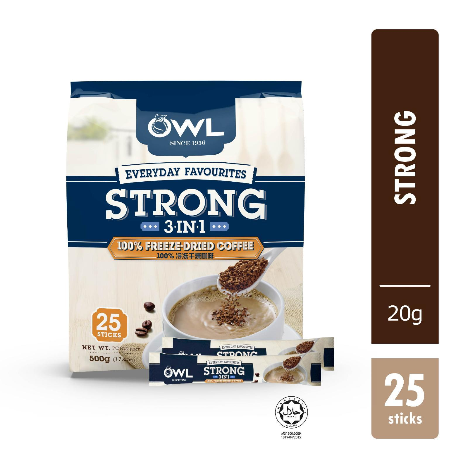 Owl Everyday Favourites Strong 3 In 1 Freeze Dried Coffee