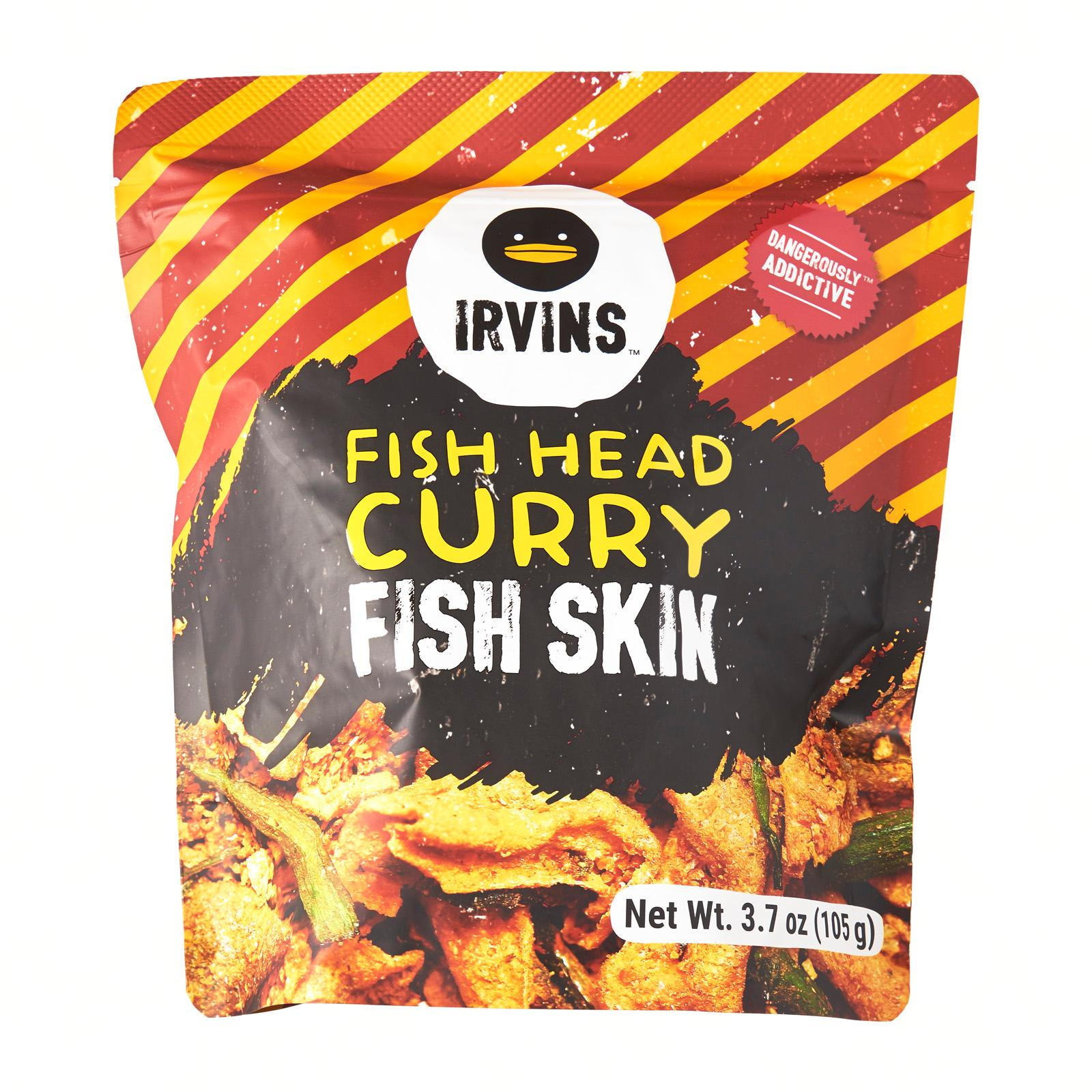 Irvins Salted Egg Fish Head Curry Fish Skin Snacks - Small
