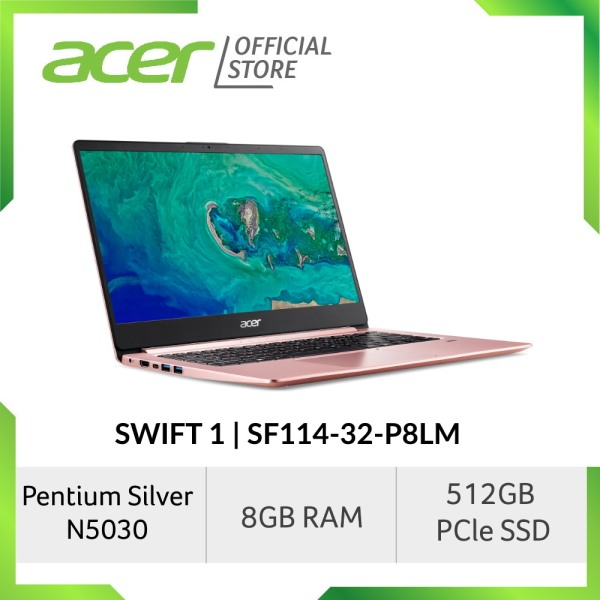 Acer Swift 1 SF114-32-P9BW/P8LM (Gold/Pink) 14 inch FHD IPS Thin and Light Laptop with 8GB RAM [Latest June 2020 Mode]