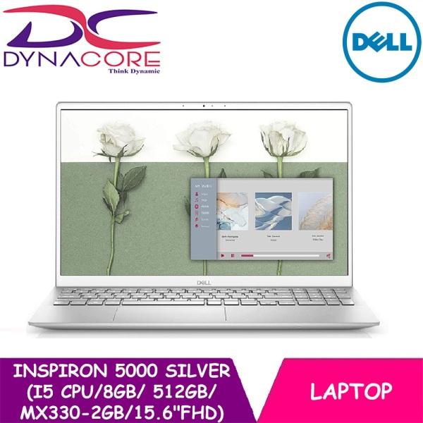 DYNACORE - DELL INSPIRON 5000 【READY STOCK】SILVER ( i5-2021 LATEST CPU | 8GB | 512GB | MX330-2GB | 15.6 FHD | WIN10) 2YRS WARRANTY