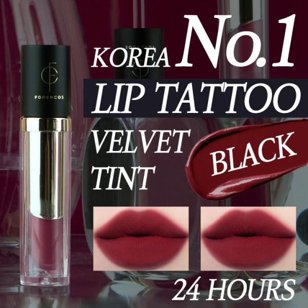 Buy [FORENCOS] Lip Tattoo Clair Velvet Tint - Black Tint 4g Singapore