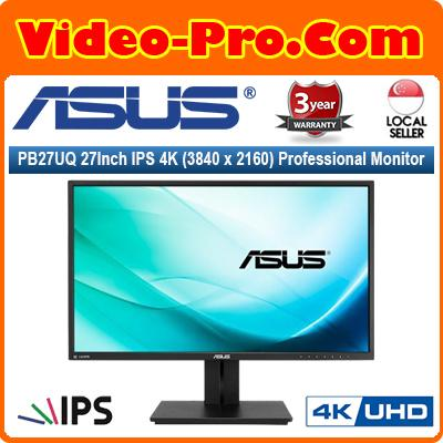 Asus PB27UQ 27Inch IPS 4K (3840 x 2160) Professional Monitor with 100% sRGB, Flicker Free, Low Blue Light, TUV Certified
